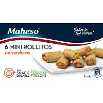 Maheso Minis rollitos de verduras Caja 210 g