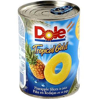 Dole Piña tropical gold en rodajas en su jugo Lata 340 g neto escurrido