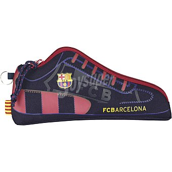 Estuche portatodo forma zapatilla f.c.barcelona