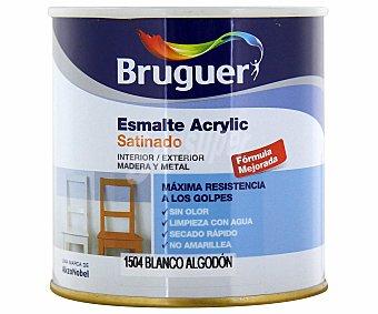 Bruguer Esmalte decorativo acrílico, de color blanco algodón y con acabado satinado 0,25 litros
