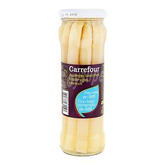 Carrefour Espárragos blancos bajo contenido en sal 205 g