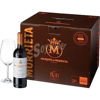 Marqués de Murrieta Vino tinto reserva D.O. Rioja caja 6 botellas 75 cl + 6 copas 6 botellas 75 cl + 6 copas