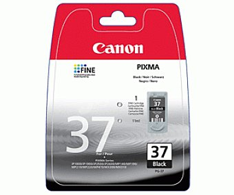 Canon Cartucho Negro PG-37 - Compatible con Impresoras: IP- / 1800 / 1900 / 2500 / 2600 MP- / 190 / 210 / 220