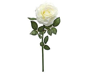 Essencial Vara de rosa blanca artificial de 86 cm, para decoración del hogar