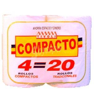 Tivoli Papel higiénico compacto 4 rollos