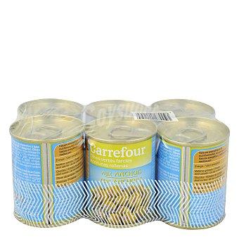 Carrefour Aceitunas rellenas de anchoa Pack 6x50 g