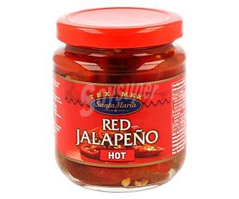 Santa Maria Jalapeño rojo picante  Frasco de 215 g