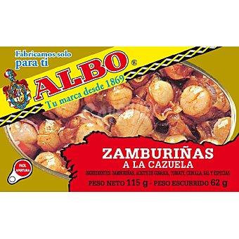 Albo Zamburiñas a La Cazuela lata 62 g neto escurrido Lata 62 g neto escurrido
