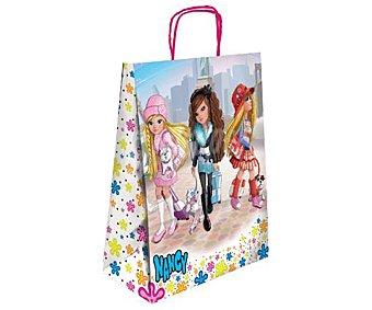NANCY Bolsa para regalo con imagen de muñecas Nancy y de tamaño L 1 unidad