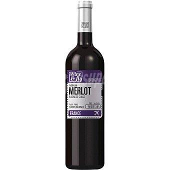 Wine and fly Vino tinto merlot de Francia  Botella de 75 cl