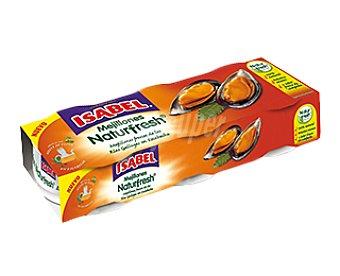 Isabel Mejillón Naturfresh en escabeche 3 latas de 92 g