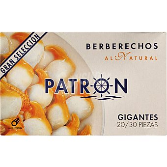 PATRON GRAN SELECCION Berberechos al natural 20-30 piezas Lata 63 g