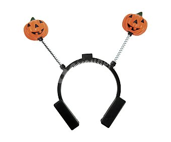 My other me Complemento para disfraz Halloween, Diadema de calabazas con luz Diadema calabazas