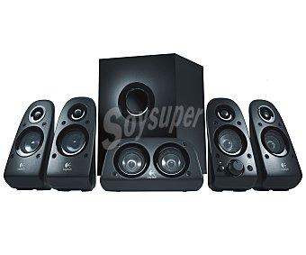 LOGITECH Z506 Altavoces 5.1, 75w (rms) de Potencia, Varias Entradas Para Conectar Dispositivos, Sonido Pleno y Envolvente, Incluso Para Fuentes Estéreo de 2 Canales, 5.1