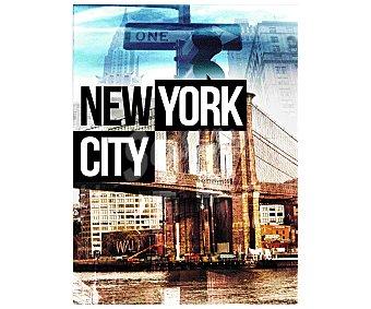 IMAGINE Cuadro con imagen representaitva de la ciudad de New York. Dimensiones 60x80Cm 1 Unidad