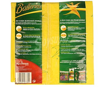 Ballerina Bayetas - color amarilla 5+1 unidades