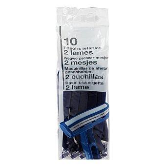 Carrefour Maquinillas deshechables 2 hojas 10 unidades