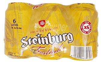 Steinburg Cerveza tostada Lata pack 6 x 330 cc - 1980 cc