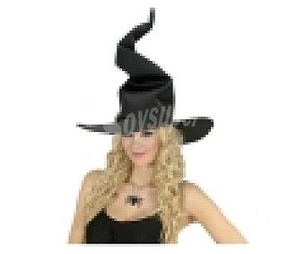 WIDMANN Sombrero flexible color negro para disfraz de bruja, Halloween 1 unidad