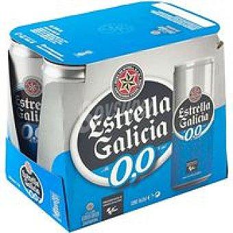 Estrella Galicia Cerveza 0.0º Pack 6x33 cl