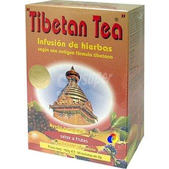 TIBETAN TEA Infusión de hierbas sabor fruta 90 bolsitas Estuche 180 g