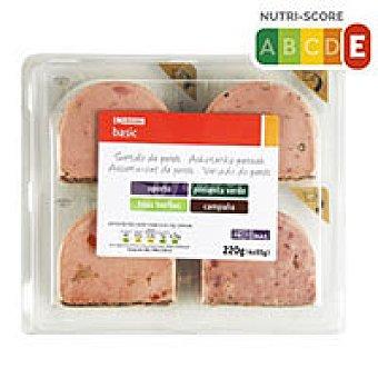Eroski Basic Surtido de patés Pack 4x55 g