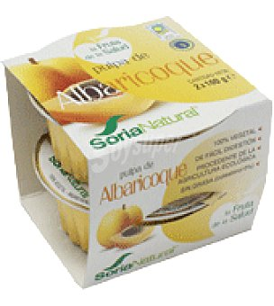 Soria Natural Pulpa de Albaricoque Pack de 2x100 g