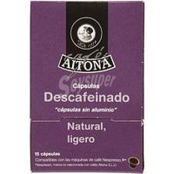 AITONA Café descafeinado 15 monodosis
