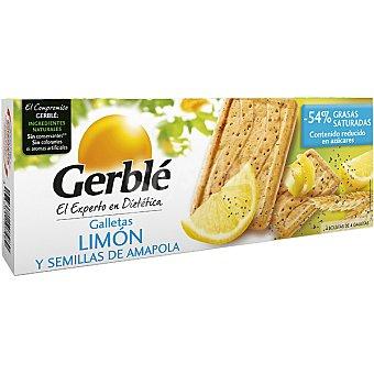 GERBLE Galletas de limon y semillas de amapola  envase 200 g