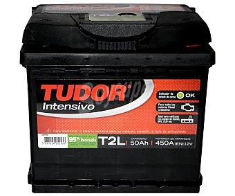 TUDOR Batería de arranque T2L 12 Voltios 50Ah , potencia de arranque: 450 Amperios 1 unidad
