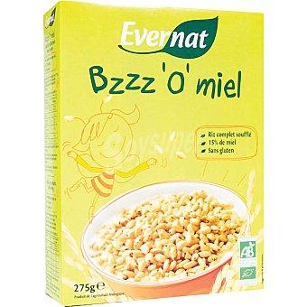 Evernat Granos de arroz inflado con miel ecológicos sin gluten Envase 275 g