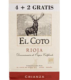 El Coto Vino tinto D.O.C Rioja Crianza Pack de 4 botellas de 50 cl