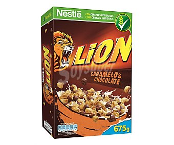 Lion Nestlé Cereales de caramelo y chocolate Paquete 675 g