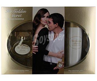 HER GOLDEN SECRET Estuche de mujer con colonia spray (50ml) más desodorante spray (150ml) 1 unidad