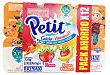 Petit frutas variadas 6 fresa y 6 fresa-platano Pack 12 x 60 g - 720 g Hacendado