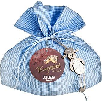 VERGANI Colomba glaseada con perlas de chocolate negro y almendras envuelto en gasa envase 1 kg Envase 1 kg