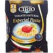 Tomate natural especial pasta pack 2 frasco 350 G  Cirio
