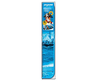 Playmobil Parasol aluminizado plegable con cerrado mediante correas elásticas, cortina térmica reflectora, dibujo de los playmobil piratas y medida de 140x80 centímetros travel