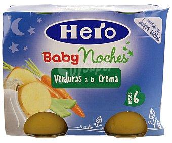 Hero Baby Buenas Noches Tarritos de verduras a la crema desde 6 meses Pack 2 x 190 g