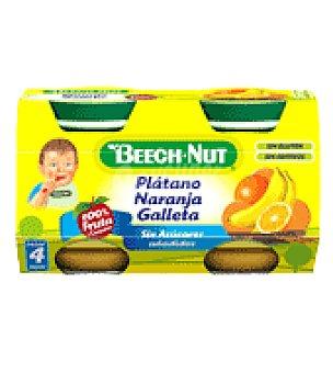 Beech-Nut Tarrito de plátano, naranja y galleta 250 g