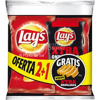 Lay's Xtra Onduladas Patatas a la sal  Paquete 510 g