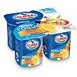 Yogur sabor macedonia pack 4 unidades 125 gr Pack 4 unidades 125 gr Clesa