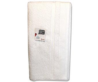 Auchan Toalla 100% algodón lisa de baño, color blanco, 100x150 centímetros 1 Unidad