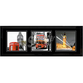 HERGON Lámina Londres 30 x 90 enmarcada en color negro mate