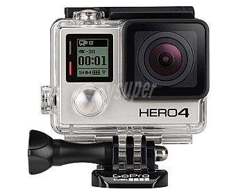GOPRO HERO 4 BLACK Videocámara Deportiva de Alta velocidad, 12 Megapixeles, wifi, Bluetooth, resistente al agua, color negro
