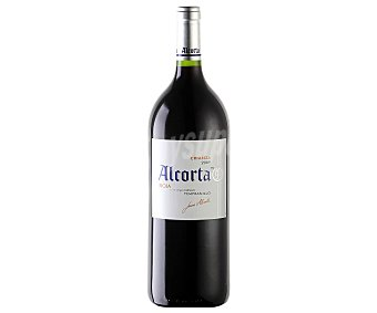 Alcorta Vino tinto crianza tempranillo con denominación de origen Rioja Botella de 1,5 litros