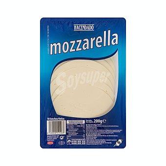 Hacendado Queso barra lonchas mozzarella Paquete 200 g (10 u)