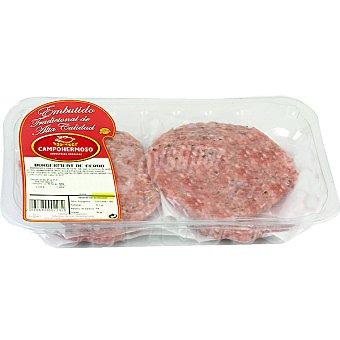 Campohermoso Hamburguesas de cerdo bandeja 400 g 4 unidades