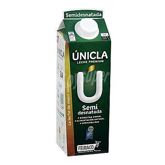 Únicla Leche semidesnatada de vaca de origen 100% gallega única 1 l