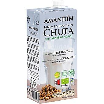 AMANDIN Bebida de chufa con jarabe de agave ecologica Envase 1 l